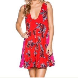 NWOT Free People Thought I Was Dreaming Red Dress